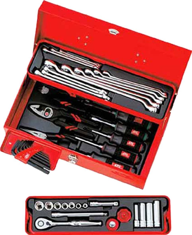 どっちでも評決肉のKTC(ケーテーシー) 9.5sq.工具セット(型開きメタルケース)43点組 SK3434S