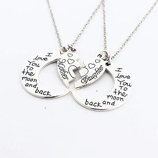 Collana mamma e figlia, regalo sorella Regalo della mamma,per donne e ragazze, regalo di famiglia Collana Alfabeto