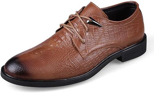 NANYDXIE Hommes Cuir Crocodile Modèle Fait Main Chaussures Oxford Entreprise