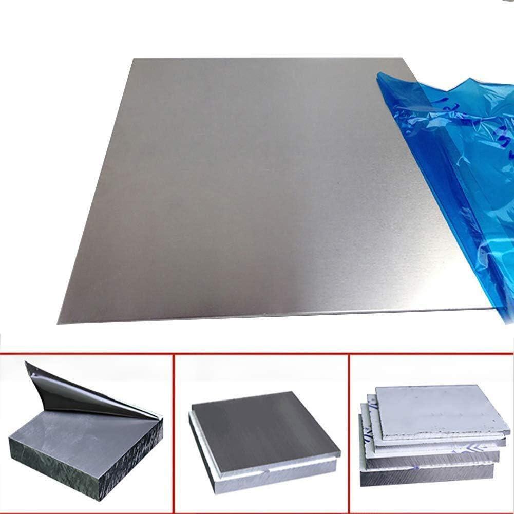 SZQL Aluminum Plate Flat Aluminum Sheet DIY Jewelry Making,Thickn:4mm