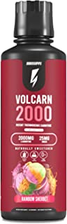 InnoSupps Volcarn 2000 - Liquid L-Carnitine, Boost Energy, Caffeine Free, No Artificial Sweeteners, 32 Servings (Rainbow S...