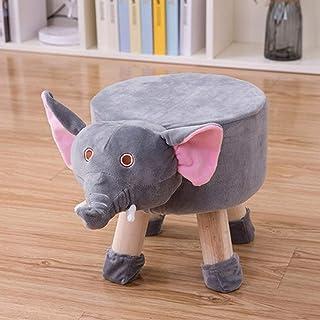 LONGren Cute Cartoon Solid Wood Stool/Bench Baby Chair Children's Back Stool/Cute Cartoon Bench Animal Chair Footstool Gif...