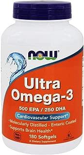 NOW Foods - Ultra Omega-3 500 EPA/250 DHA - 180 Softgels