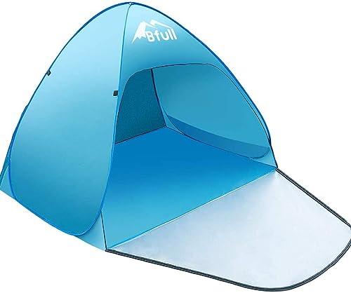 chaise longue plage auvent de protection solaire instantan/ée avec fermeture /éclair bateau anti-UV camping Koet Abri de plage mini auvent automatique pour pique-nique