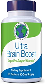 Natural Earth Supplements | Ultra Brain Boost Cognitive Support | All Natural Memory Supplement | Brain & Cognitive Health...