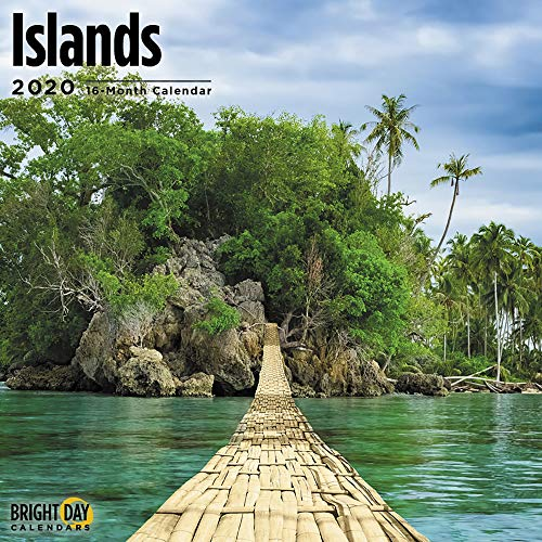 2020 Islands Wall Calendar by Bright Day, 16 Month 12 x 12 Inch, Island Travel Destination