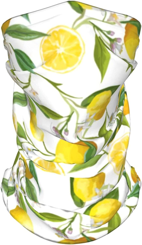 Lemon Tree Branches Neck Gaiter Multipurpose Headwear Ice Silk Mask Scarf Summer Cool Breathable Outdoor Sport 2 Pcs