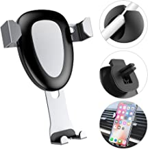 Car Phone Holder, MeanLove Universal Phone Gravity Car Vent Mount for iPhone 8/ 8 Plus/ 7, Galaxy S8/ S7, HTC, Huawei, LG and More Smart Phones (Black)
