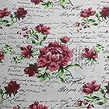 ONECHANCE Mantel Sofá de tela Tela de algodón Tela de lino Tela floral por el medidor 100x150cm Color Inglés y flor Size 2 metros