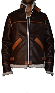Men Resident Evil 4 Brown Faux Fur Synthetic Leather Jacket