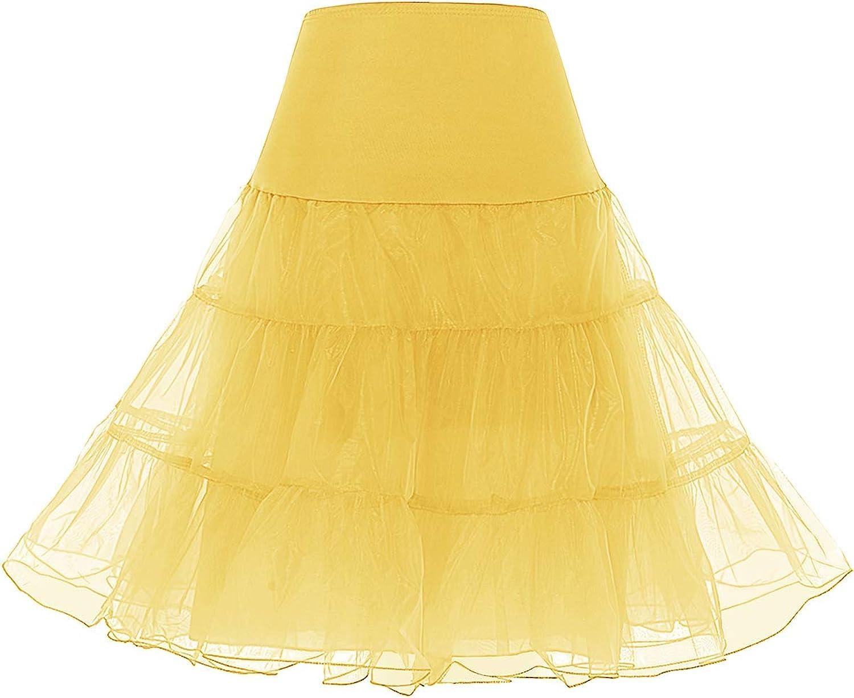 Bridesmay Jupon pour Robe Femme Vintage ann/ées 50 Pin Up Robe de Soir/ée Cocktail C/ér/émonie sous Robe Jupe en Tulle