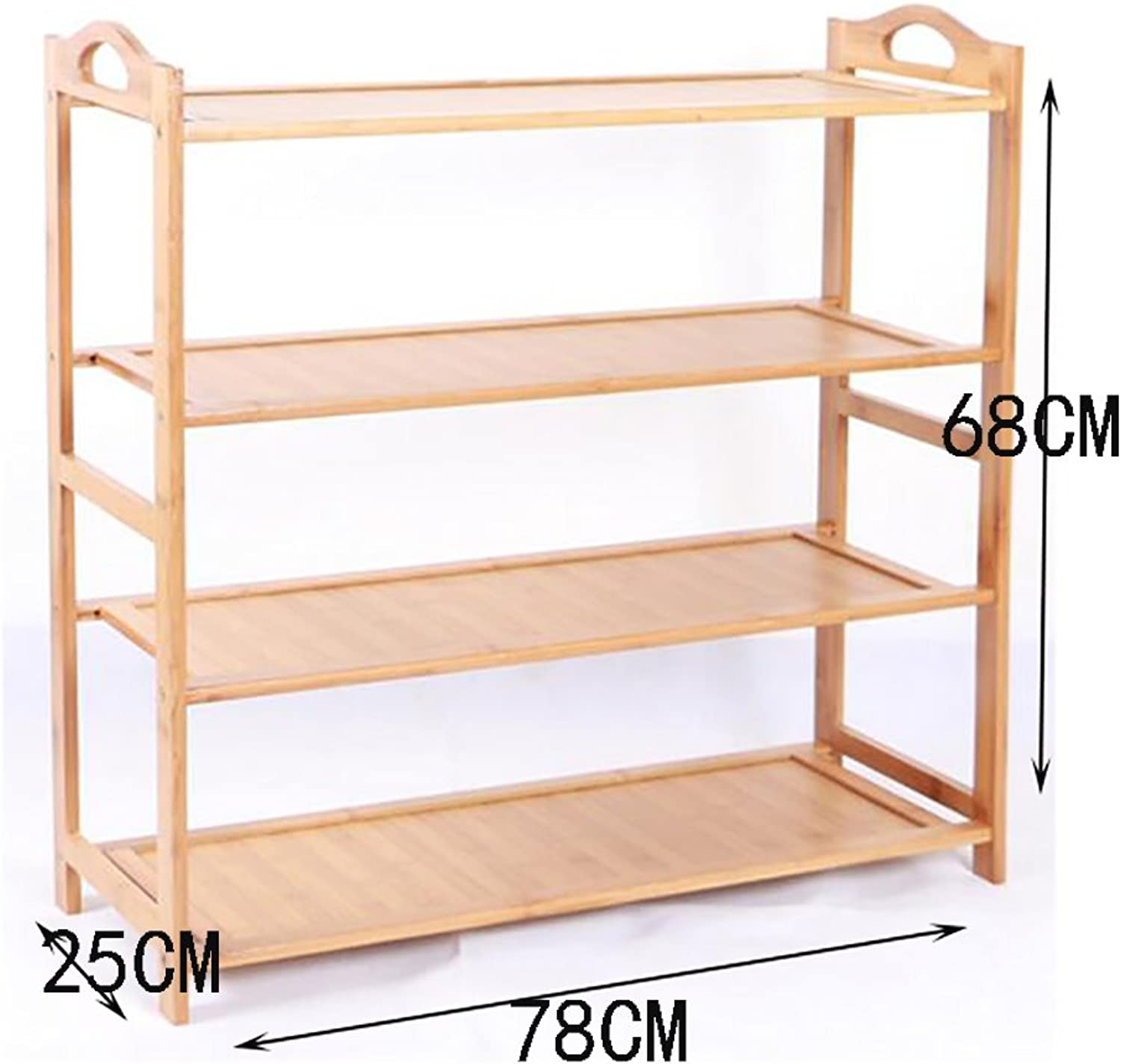 shoes Bench Organizing Rack Bamboo Simple shoes Rack Multi - Storey shoes Rack Wooden shoes Rack Multi - Storey Dormitory shoes Rack Living Room Shelves (color   3, Size   78CM)