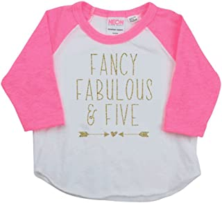 Girl Birthday Shirt, Five Year Old Girl Fifth Birthday Outfit