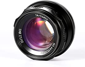 7artisans 35mm F1.2 Large Aperture Prime APS-C Manual Focus Lens for Sony E Mount Mirrorless Cameras A6500 A6300 A6100 A6000 A5100 A5000 A9 NEX 3 NEX 3N NEX 5 NEX 5T NEX 5R