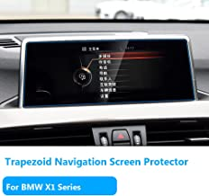 """For BMW X1 Series Navigation Display Screen Protector Foils[2016/2017/2018],TTCR-II Anti-Explosion Touch Screen Protector[0.3mm,9H Hardness],Tempered Glass Console GPS Screen Protector[8.8"""" Trapezoid]"""