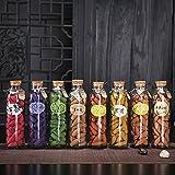 (Eaglewood) Incenso a cono fatti a mano in bottiglia di vetro, 6 minuti di combustione, diverse fragranze a scelta, coni da 11x27 mm, 65 pezzi