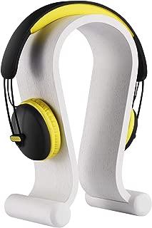 Samdi Wooden Headphone Stand/Wooden Headset Holder/Omega Universal Wood Headset Hanger for All Headset Brand (Oak Wood White)