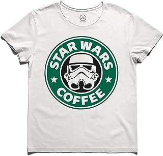 Art T-shirt-STAR WARS COFFEE TİŞÖRT-BEYAZ-L