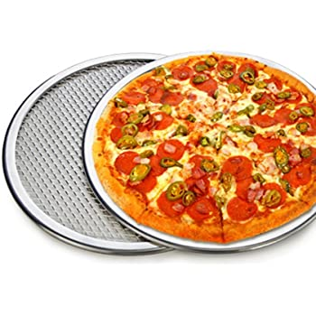 "1 pc New 9"" Seamless Rim Aluminium Pizza Pan Pizza Screen Baking Tray Pizza Making Net Cookware Bakeware Baking Tool Pizza Tray"