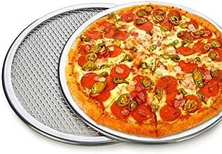 "Pizza Stone of 1 Piece 12"" Seamless Rim Aluminium Pizza Mesh Pizza Screen Baking Tray Pizza Making Net Bakeware Pizza Tools"