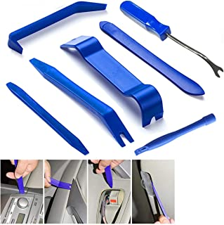 Auto Zierleistenkeile 7 teilig, Demontage Werkzeug Innenraum Verkleidung Set,für Fahrzeug Innen Verkleidung Reparatur Zierleisten Keil Clip Löser