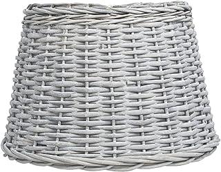 UnfadeMemory Pantalla Lampara para Hogar o Jardín,Rústico Mimbre (45x28cm, Marrón)