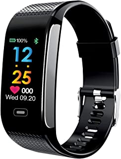 Fitness Tracker, Heart Rate Monitor Smart Bracelet Fitness Watch with Camera Remote Shoot Colorful Screen, IP67 Waterproof Activity Fitness Wristband Pedometer for Bluetooth Android and iOS