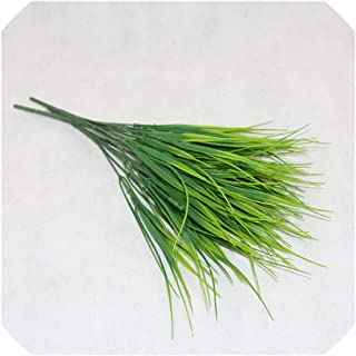 Fake Plants Fern Grass Wedding Wall Outdoor Decor Green Leaf Artificial Flowers Plastic Plante for Home Garden Decoration,6
