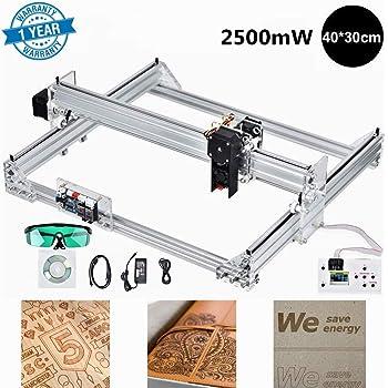 HUKOER Kit de bricolaje de máquina de grabado láser de 17 x 20 cm, kits de grabado láser CNC con controlador fuera de línea Cortador de madera de escritorio para madera, etc. (
