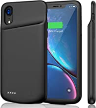 JERSS iPhone XR Battery Case 6000mAh, Portable Rechargeable Battery Pack Charging Case for Apple iPhone XR(6.1 inch) Extended Battery Charger Case Protective Power Bank Backup Cover (Black)
