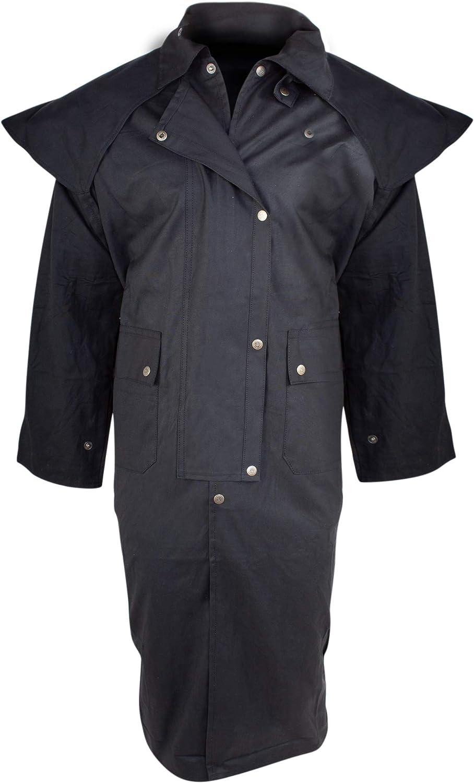 Duster Coat Mens Australian Oilskin Western RAIN Waterproof Trench Jacket