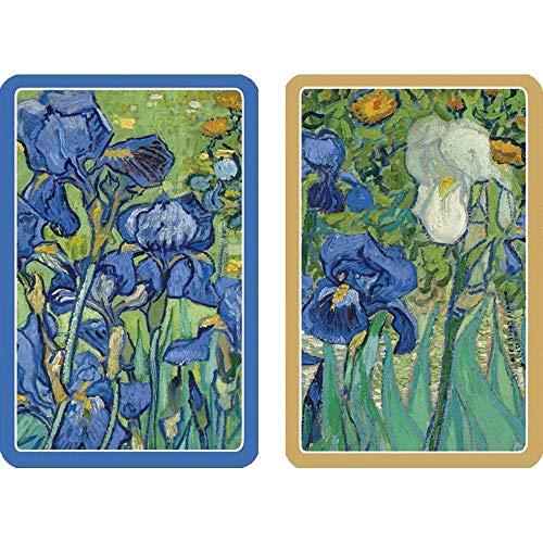 Caspari Van Gogh Irises Bridge Playing Cards, Regular Type, Multicolor