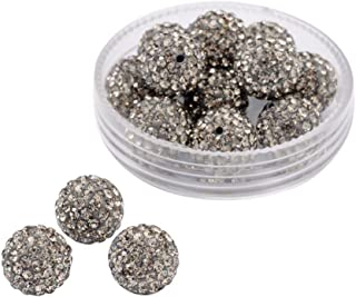 10pcs Snakeskin Pattern Oval Connector Beads,Paved Crystal Rhinestones For Jewelry Making