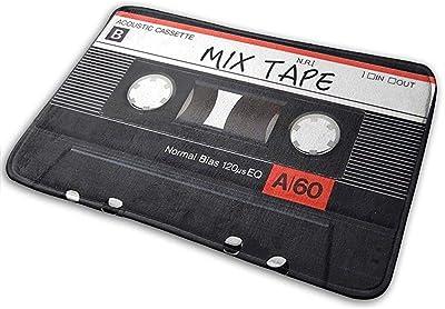 40 x 60cm Paillasson R/étro Creative Cassette Cuisine Salle de Bain Entr/ée Tapis de Bienvenue 1 Durable et utile