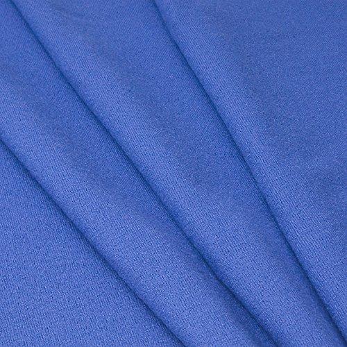 MIRABLAU DESIGN Stoffverkauf Schurwolle Strickwalk in blau (1-080M), 0,5m