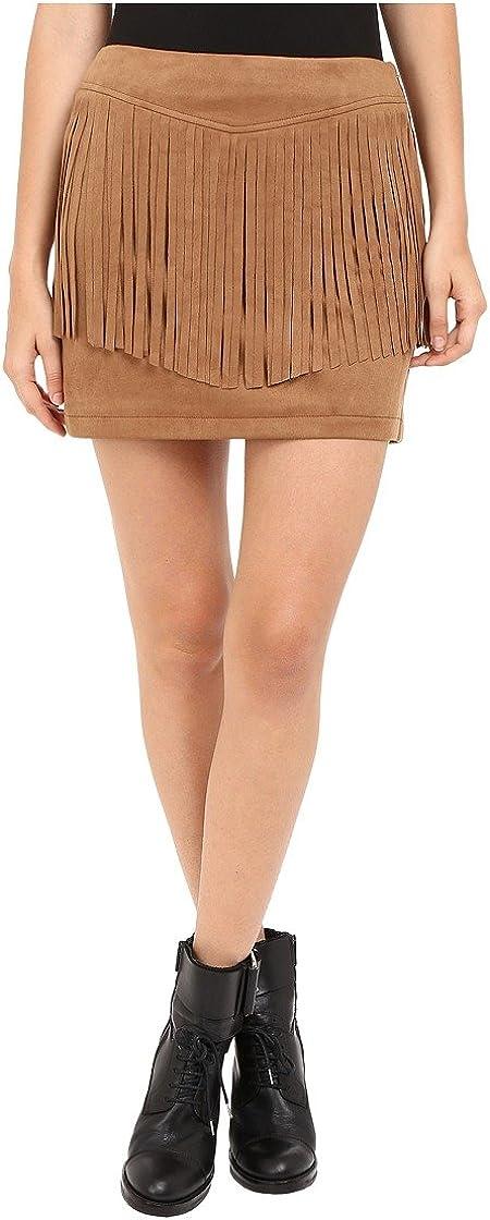 Jack by BB Dakota Women's Eulamay Faux Suede Fringe Skirt
