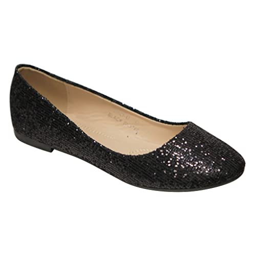 15e3a497e Bella Marie Stacy-12 Women's Round Toe Slip On Ballet Flat Shoes
