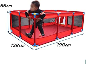 MJY Safety Fence Playpens Child Safety Fence  with Mat and Balls  Indoor Outdoors and Parks Playard  Abs Plastic Tube