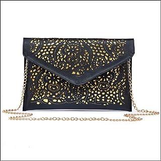 New Fashion Hollow Envelope Bag Small Lady Leather Messenger Bag Girl Shoulder Bag Messenger Bag Clutch Bag