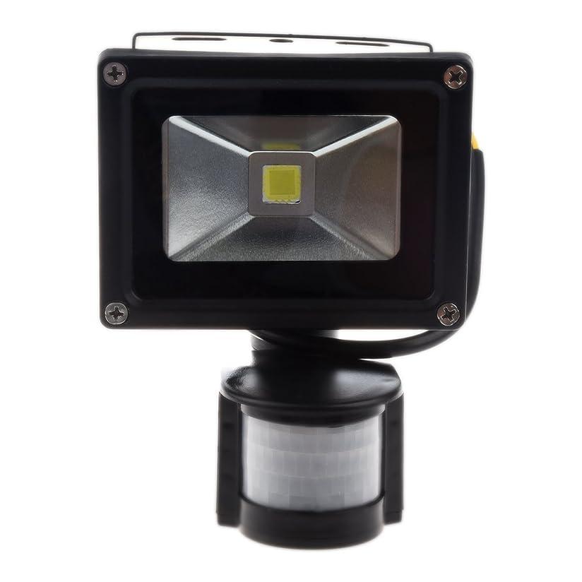 知事貪欲闘争ライト,SODIAL(R)黒い高電圧色白い光85-265V10W、屋外LEDライト