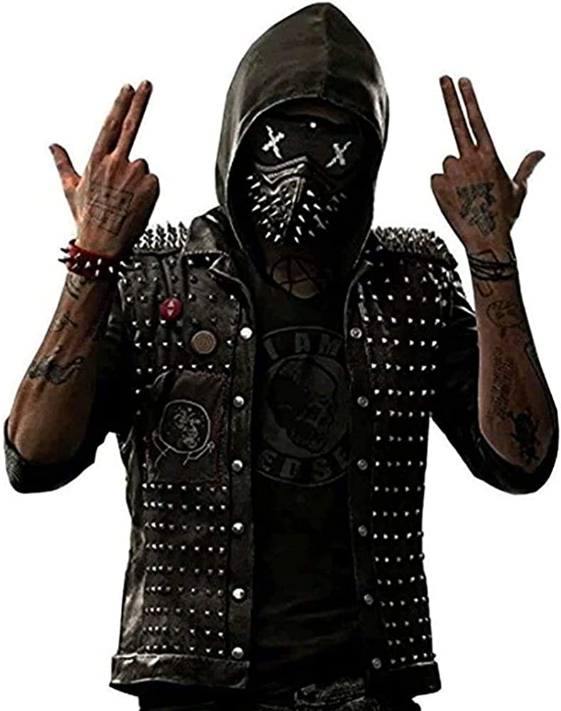 Watch Dog Wrench Dedsec latest Vest Men in Hood Popular brand Faux Leather Removable