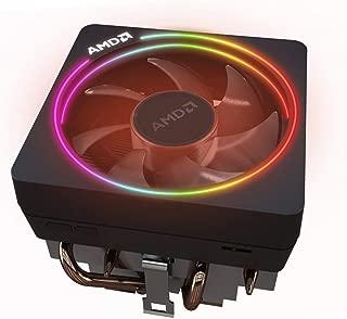 AMD Wraith Prism LED RGB Cooler Fan from Ryzen 7 2700X Processor AM4/AM2/AM3/AM3+ 4-Pin Connector Copper Base/Alum Heat Sink
