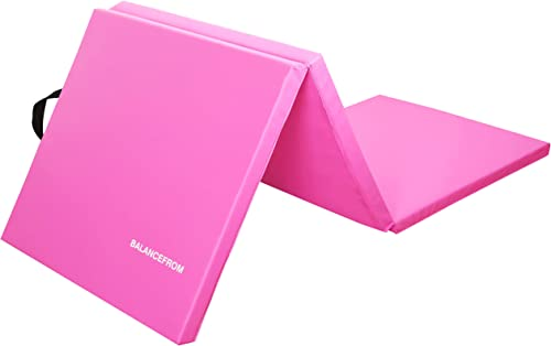 """BalanceFrom 1.5"""" Thick Tri-Fold Folding Exercise Mat with Carrying Handles for MMA, Gymnastics and Home Gym Protectiv..."""