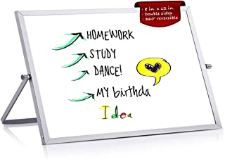 BEST BOARD Mini Dry Erase Whiteboard with Stand for Desktops, Tabletops, and Countertops, Double-Sided, 8 x 12 inches