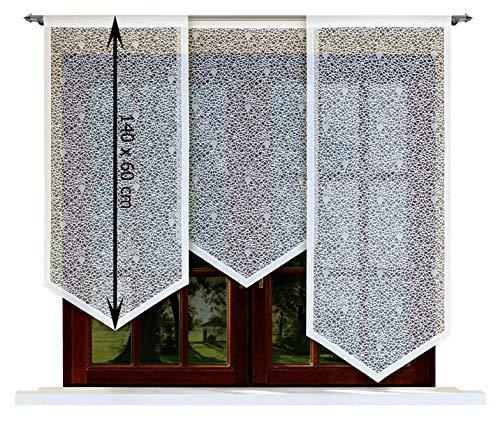 HAFT® Flächenvorhang kurz, Panel kurz, Schiebevorhang kurz, mit Tunneldurchzug Gardine, Vorhang (140 x 60 cm)