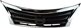 Front Upper Bumper Mounted Grille Black & Chrome Surrounding for Nissan Altima