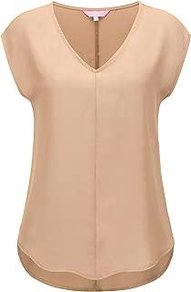 Love Coated Womens V-Neck Sleeveless Summer Chiffon Blouses(3 Styles, Plus
