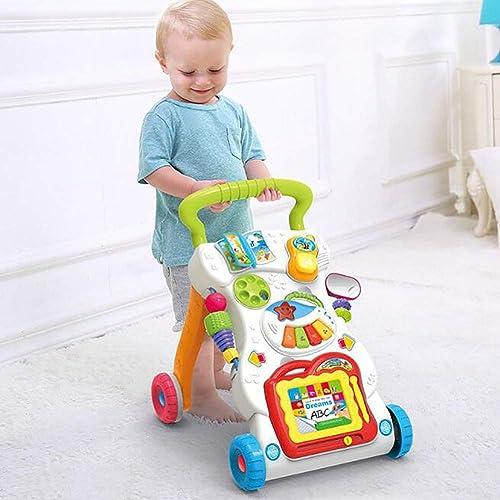 MINISU S ling Baby Walker Multi-Funktions-einstellbare Geschwindigkeit Walker verhindern O-Legged Kinder Trolley geeignet für 0 Jahre alt 1 Jahr alt 2 Jahre alt Baby Reise