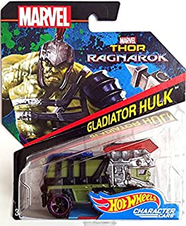 Hot Wheels Marvel Character Car Gladiator Hulk (Thor: Ragnarok) Die-Cast Vehicle