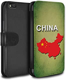 Stuff4®PU Leather Case/Cover/Wallet for Huawei P8Lite/Flag Naciones Collection Chine/Chinois